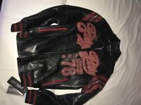 Pelle Pelle Barcelona leather jacket black and red size M (40) for sale £300