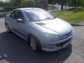 PEUGEOT 206 CC 1.6 CONVERTIBLE IN METALLIC GREY