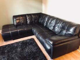 Brown Leather Corner Suite