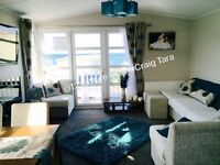 SEA VIEW** Modern Platinum grade * 3 BEDROOM caravan for hire at Craig Tara!