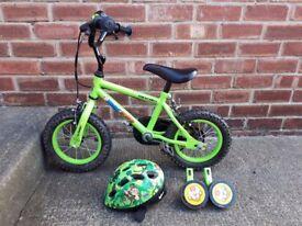 Apollo Marvin the Monkey Kids Bike 12inch Wheels + Helmet, Spiderman Balance Bike & Avigo Scooter.