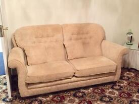 Beige 2 Seater Sofa & 2 Arm Chairs MUST GO BY 1st DECEMBER