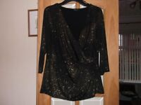 ladies evening/occasion top by m&co size 14, unworn