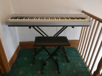 Yamaha P70-S Digital Piano with original box, manuals, piano stand & stool included