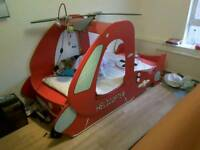 Child's single helicopter bed