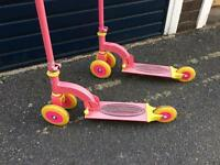 Kids scooters (pair x2)