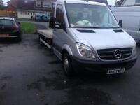 2007 07reg Mercedes Sprinter Recovery Truck Silver Factory Back 313Cdi LWB