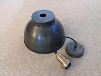"""Industville Pewter 13"""" ceiling shade with Brass pendant holder"""