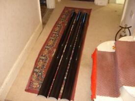 3 x 2m Black Gutter Lengths, 112mm wide, Grey Lined Interior