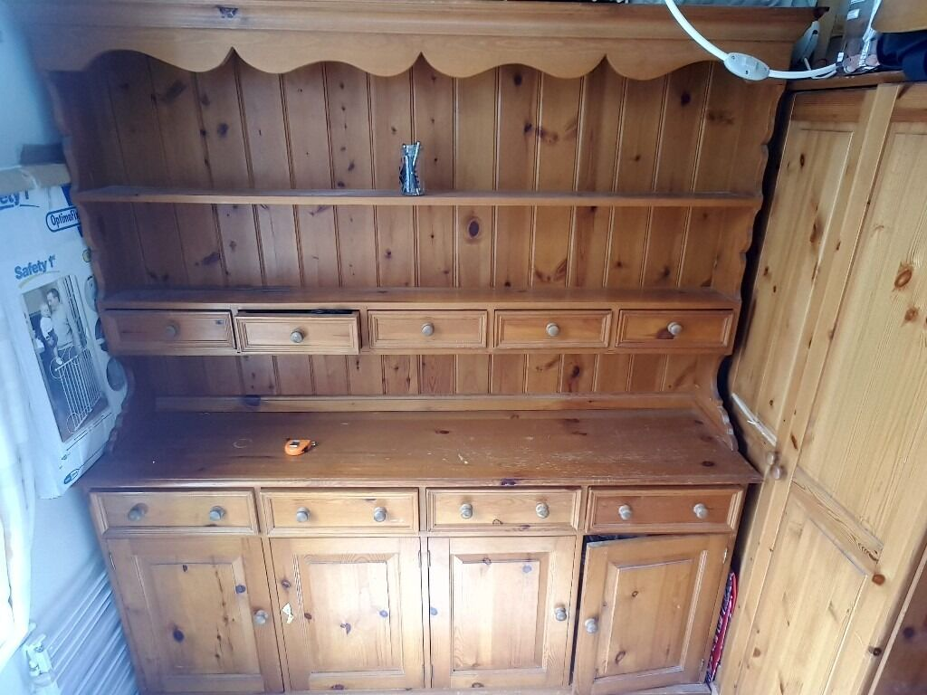 Kitchen Dining Room Dresser For Sale Solid Pine Good Shabby Chic Project