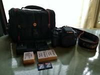 Canon EOS 550D / Rebel T2i 18MP DSLR Camera Body and Accessories