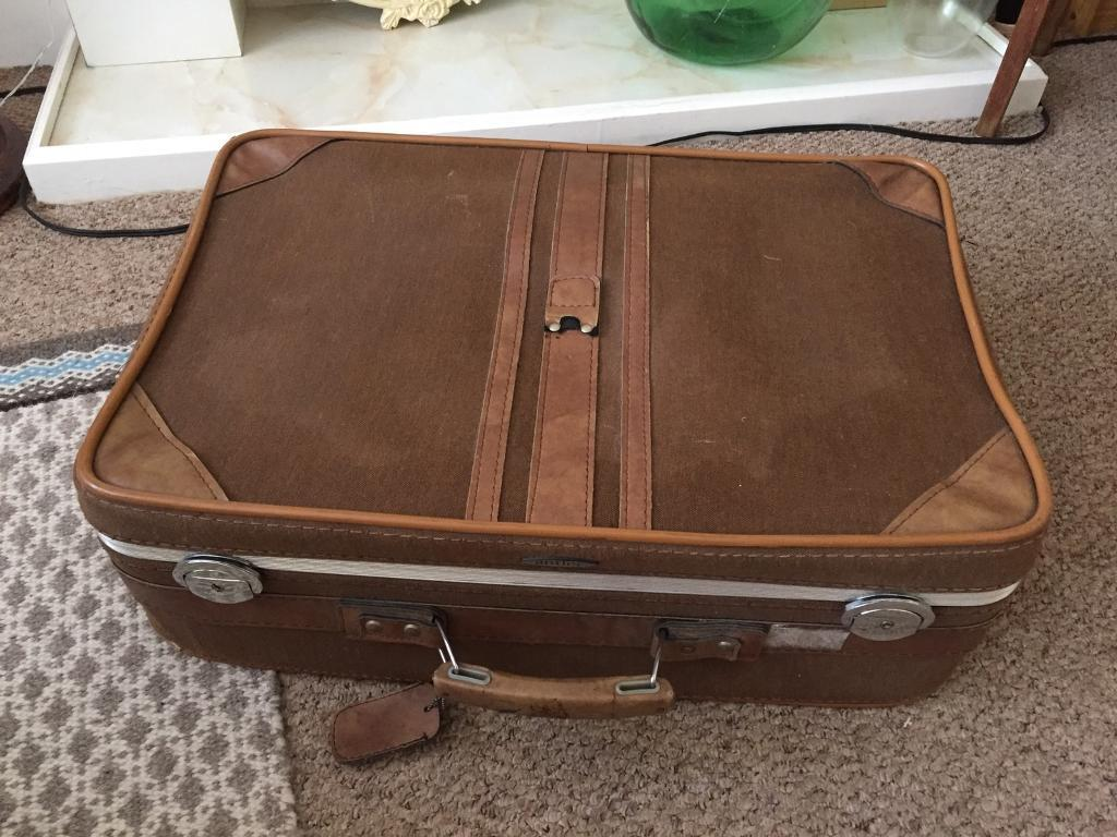 Vintage Antler suitcase retro brown | in Bournemouth, Dorset | Gumtree