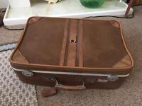 Vintage Antler suitcase retro brown