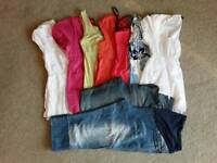 Beautiful Bundle of Maternity Clothes, Size 16-18 (9 Items)