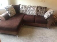 4 seater sofa, 2 seater sofa and foot stool