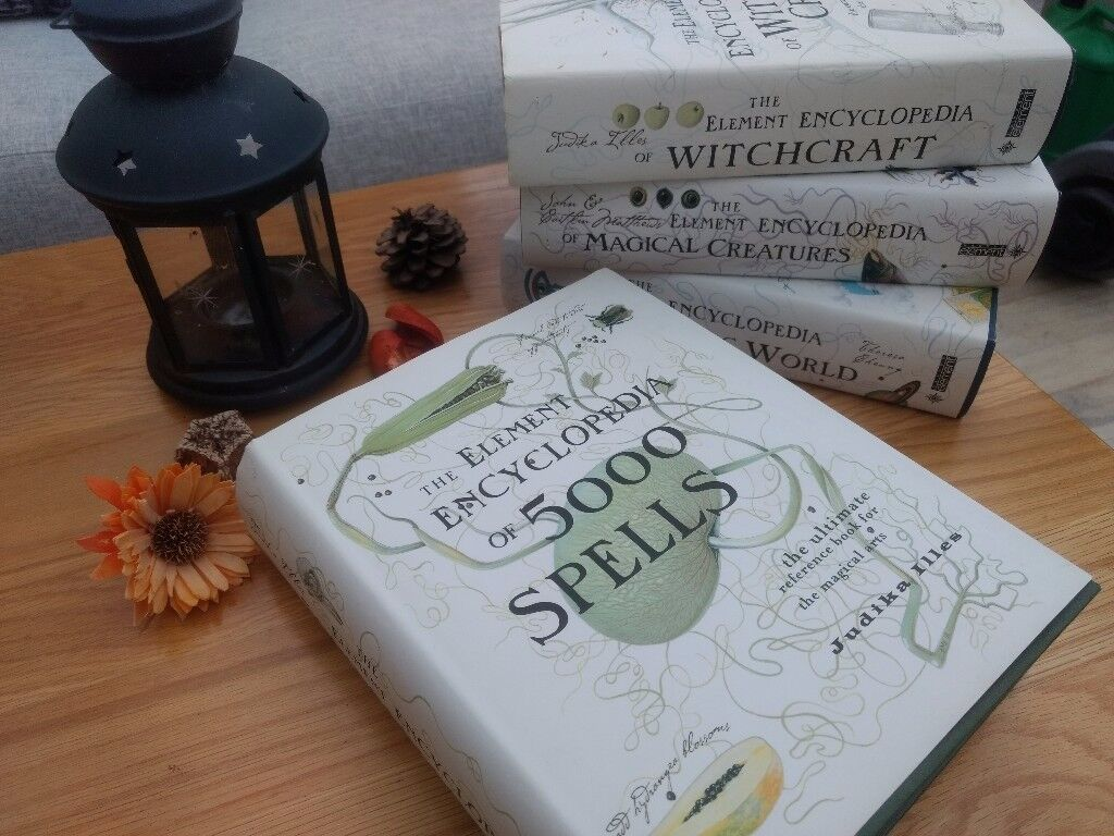 Collection of Element encyclopedia of witchcraft, spells, mythical creatures and the psychic world.