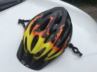 Child's flame effect bicycle helmet