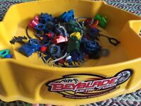 Beyblade arena and blades