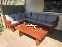 Exclusive Outdoor Corner Suite with Cushions & Table
