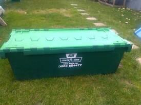 Moving crate plastic