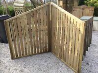 Fence panels, corner setting, New.