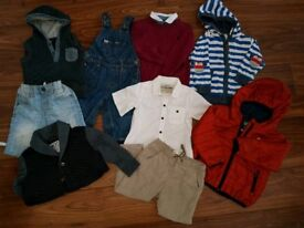 Boys clothes ages 12-24 months old. 9 items Mixture of ted baker next and zara