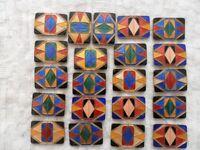 Art Deco Enamel Buckles - set of 21