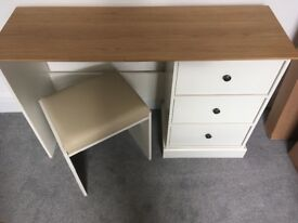 Kensington bedroom/office desk - cream