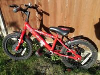 Child's Apollo Urchin bicycle bmx style bike