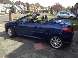 Peugeot 206CC Convertible. Very clean with low mileage. MOT til Oct 2017
