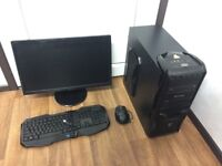 Gaming Computer PC Full Setup 22 inch Monitor (AMD 6 Core, 16GB RAM, 1TB HD, GTX 660 2GB)