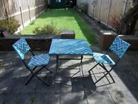 outdoor bistro set 70.00 pounds RRP 150.00 pounds