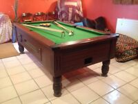 7ft x 4ft Mahogany Slate Bed Pool Table – Free Play