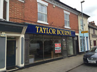 Superior Ground Floor Shop with First Floor Ofices To Let in High Street, Syston, Leicester