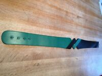 Green & black leather belt, size 30cm