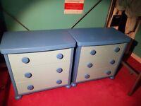 Ikea Mammut chest of drawers blue