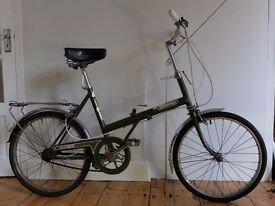Raleigh Stowaway; Retro Fold-Up Bike, Excellent Condition, Recently Serviced