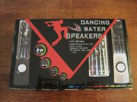 Pair USB Dancing water speakers.