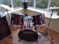 Drum kit by Rockem for beginner or intermediate level