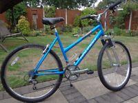 Raleigh Siren Series 1 Girls/Ladies Mountain Bike, 21 Gears, Blue, Very Good Condition