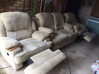 FREE DELIVERY reclining sofa and singles