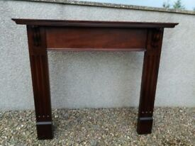 Beautiful solid mahogany mantle surround