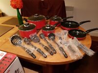 Morphy Richards pots, pans and utensils
