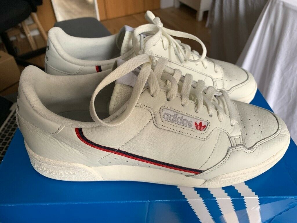 02c89d74 adidas Continental 80 Shoes   UK 9   Beige / Off White / Scarlet (Worn once)