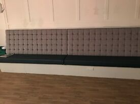 Upholstered bench seating, commercial usage