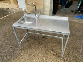 Stainless Steel Sink Right Hand Drainer with Taps