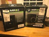"Mackie MR8 MK3 8"" speakers X 2. Hardly used (1 brand new)"