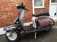 Italian Lambretta Series 1 scooter 1959 125cc Mot tax exempt load new parts Uk registered