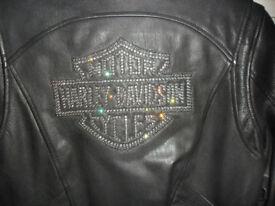Lady's Harley Davidson leather jacket