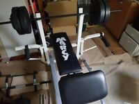 Equipment for the home gym +200kg and 7 barbells